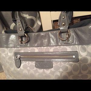 Coach Bags - EUC Coach Gray Handbag